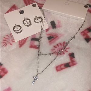Silver rings and necklace